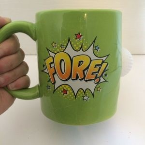 """Fore"" Golf Coffee Mug Cup Funny 3D Cutout"